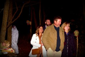 Crowd Exiting the Haunted Woods