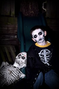 Skeleton and Skeleton Boy